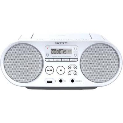 Cd плейър sony player, бял, zsps50w.cet
