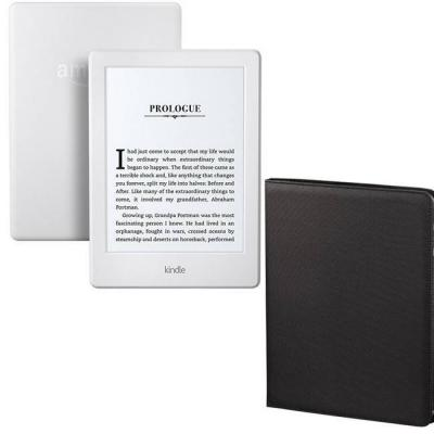 Четец за е-книги new 2016 amazon kindle touch 4gb (8.gen), (white) 6 инча - with special offers + калъф hama arezzo