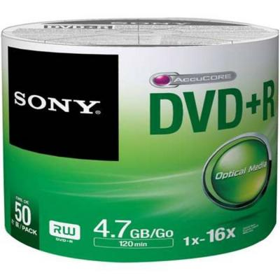 Dvd+r sony 120min/4.7gb, 16x - 50 броя в целофан, 50dpr47sb