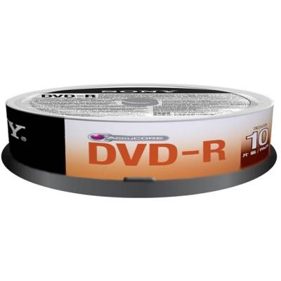 Dvd-r sony, 120min/4.7gb, 16x - 10 броя в шпиндел, 10dmr47sp