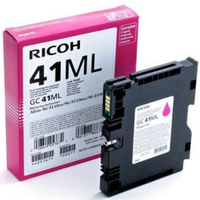 Касета с мастило гел ricoh magenta gel yield gc 41ml,600 копия,405767, sg2100n, ricoh-ink-gc41ml
