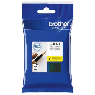 Мастилена касета brother lc-3617 yellow ink cartridge for mfc-j2330dw/j3530dw/j3930dw, lc3617y