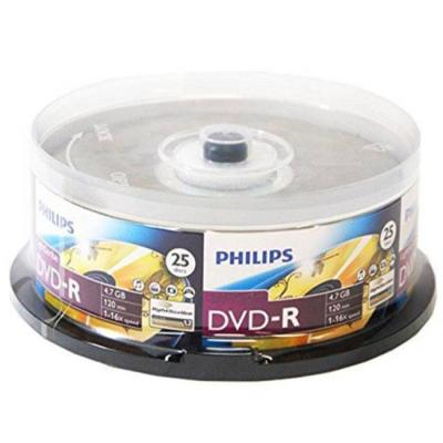 Dvd-r philips 120min./4.7gb. 16x  - 25 бр. в шпиндел