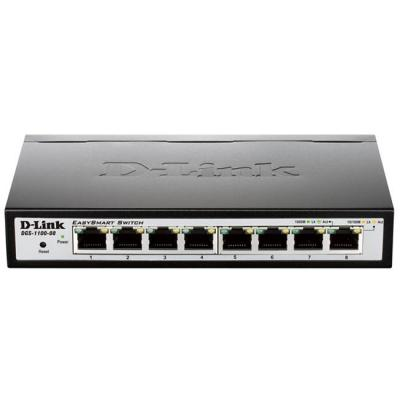Комутатор d-link 8-port gigabit smart switch, dgs-1100-08