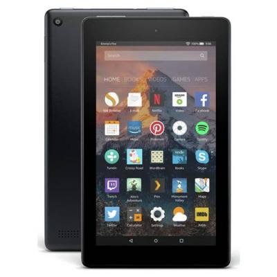 Таблет amazon kindle fire, 7 инча display, new 2017, wi-fi, 8 gb - includes special offers, черен