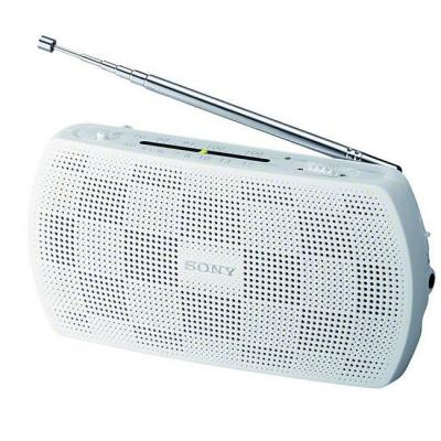 Радио sony srf-18 portable radio, бял, fm (stereo)/am (mono), srf18w.cev