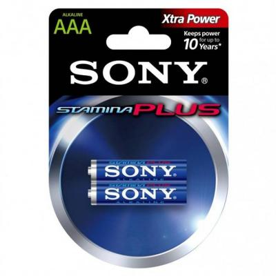 Батерия sony am4-b2d alkaline lr03-aaa stamina plus 2pcs, aaa, am4-b2d