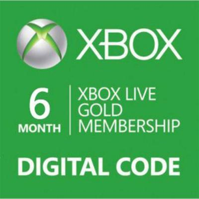Ваучер xbox live 6 month gold card digital code, 14274160 6