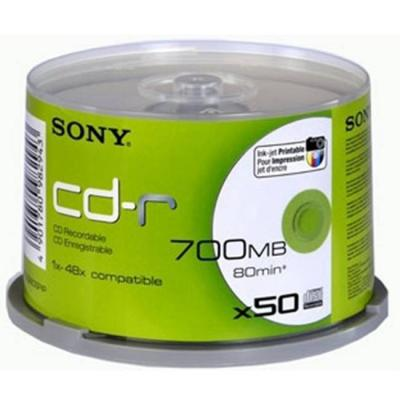 Cd-r sony 80min./700mb, sony, 48x, 50бр., 50cdq80pp