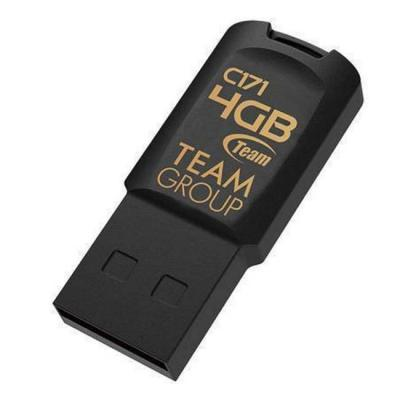 Флаш памет usb team group c171, 4gb, usb 2.0, черен, team-usb-c171-4gb-black