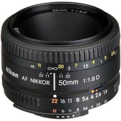 Обектив nikon af nikkor 50mm f/1.8d lens for dslr cameras
