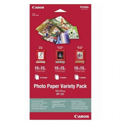 Хартия canon photo paper variety pack 10x15cm vp-101