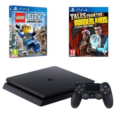 Конзола playstation 4 slim 500gb black, sony ps4 + игра lego city undercover + игра tales from the borderlands