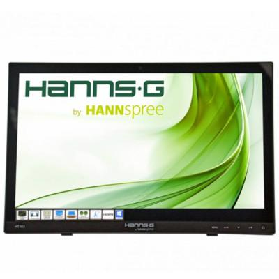 Тъч монитор hannspree ht 161 hnb, tft, 15.6 inch, whide, hd ready, d-sub, hdmi, 10 point touch, черен, hsg-mon-ht161hnbrex
