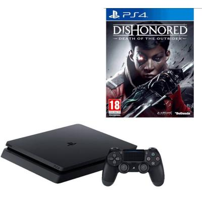 Конзола playstation 4 slim 500gb black, sony ps4+игра dishonored: death of the outsider