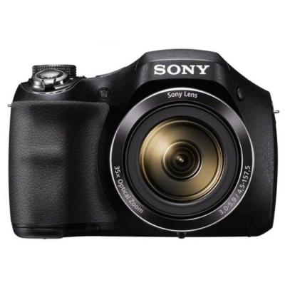 Цифров фотоапарат sony cyber shot dsc-h300 черен + sony cp-v3 portable power supply 3000mah, бял, dsch300b.ce3_cp-v3w_promo