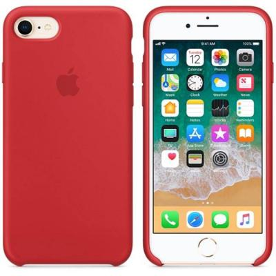 Калъф apple iphone 8/7 silicone case - (product)red, mqgp2zm/a
