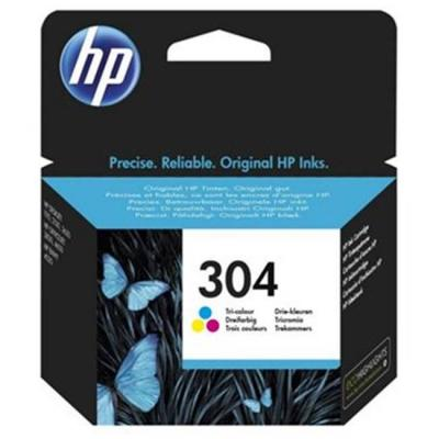 Мастилена касета hp 304 tri-color ink cartridge, 100 копия, n9k05ae