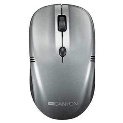 Мишка canyon 2.4ghz wireless mice, 4 buttons, dpi 800/1200/1600, dark gray pearl glossy, cne-cmsw03dg