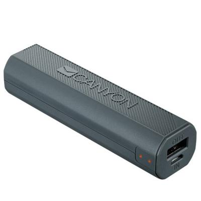 Външна батерия canyon power bank 2600mah built-in lithium-ion battery, output 5v1a, input 5v1a, dark gray, cne-cpbf26dg