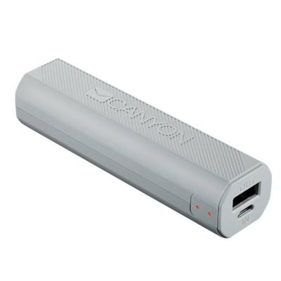 Външна батерия canyon power bank 2600mah built-in lithium-ion battery, output 5v1a, input 5v1a, white, cne-cpbf26w