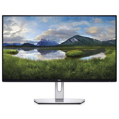 Монитор dell s2319h, 23 инча wide led, ips anti-glare, ultrathin, fullhd 1920x1080, 5ms, 1000:1, 250 cd/m2, vga, hdmi, speakers, черен и сребрист, s23