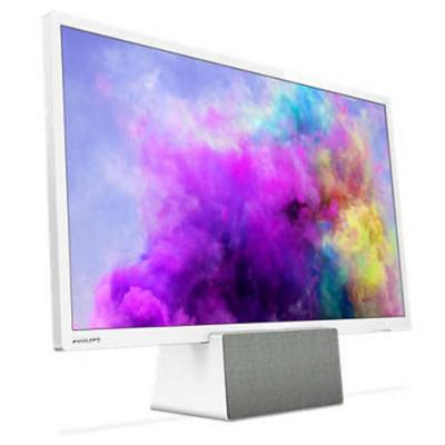 Телевизор philips 24 инча fhd tv, dvb t/c/t2/t2-hd/s/s2, incredible surround, clear sound, 16w, sturdy 3-in-1 solution: tv, monitor, or speakers, бял,