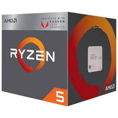 Процесор amd ryzen 5 2400g 4-core 3.6 ghz (3.9 ghz turbo) 6mb/65w/am4/box, amd-am4-r5-ryzen-2400g
