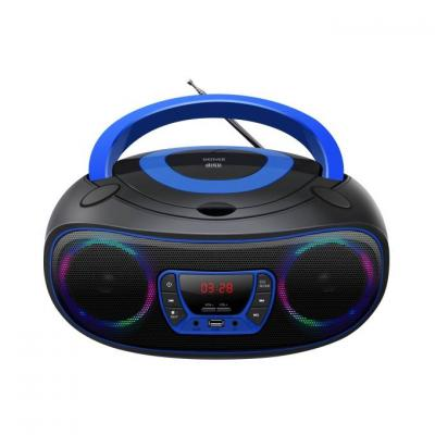 Cd  адиокасетофон с fm радио denver tcl-212bt - blue