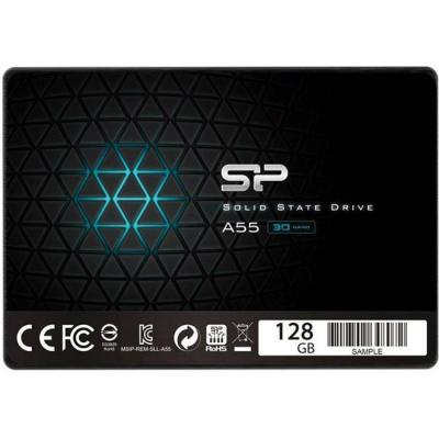 Диск solid state drive (ssd) silicon power a55, 2.5, 128 gb, sata3, slp-ssd-a55-128gb