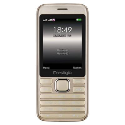 Мобилен телефон prestigio grace a1, 2.8 (240x320), dual sim, mt6261d, gsm 900/1800, 32mb ddr, 32mb flash, 0.3mp камера, pfp1281duogold