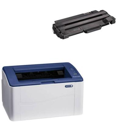 Лазерен принтер xerox p3020bi - 3020v_bi + съвместима тонер касета за xerox phaser 3020 /x-3025 / workcentre 3025 standard-capacity print cartridge