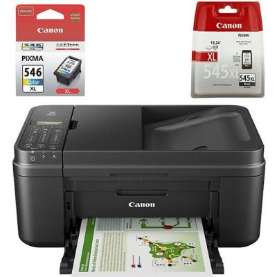 Мастилоструйно многофункционално устройство canon pixma mx495 all-in-one, fax, black, 0013c009ab + мастилници canon pg-545xl черна и cl-546xl цветна