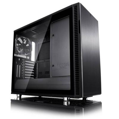 Кутия за компютър fractal design define r6 usb-c blackout – tg, 3 x dynamic x2 gp-14 140mm, черен, fd-ca-def-r6c-bko-tgl
