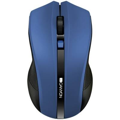 Мишка canyon 2.4ghz wireless optical mouse with 4 buttons, dpi 800/1200/1600, blue, 122x69x40mm, 0.067kg. cne-cmsw05bl