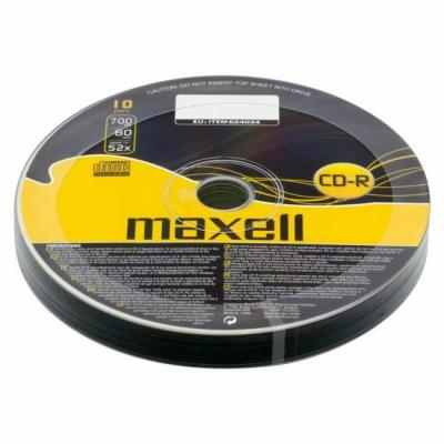 Cd-r80 maxell, 700mb, 52x, 10 бр., ml-dc-cdr80-10