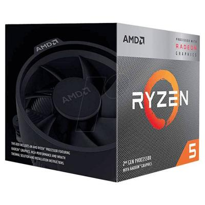 Процесор amd ryzen 5 3400g с radeon rx vega 11 graphics/box, am4, 3.7ghz, 65w tdp, yd3400c5fhbox