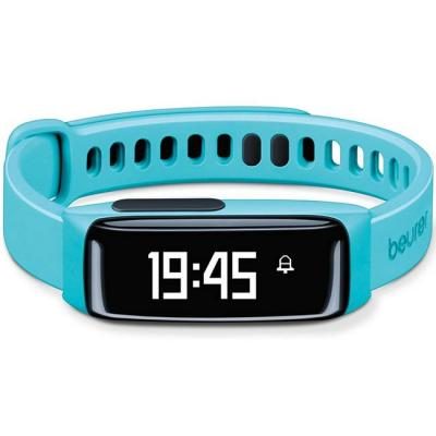 Смарт часовник beurer as 81 activity sensor, bluetooth, sleep traking-analysis, alarm,fat burn, oled display, тюркоаз, 67637_beu