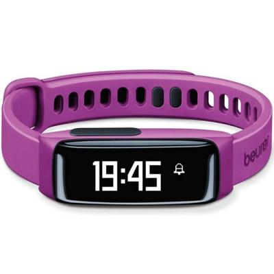 Смарт часовник beurer as 81 activity sensor, bluetooth, sleep traking-analysis, alarm, fat burn, oled display, лилав, 67636_beu