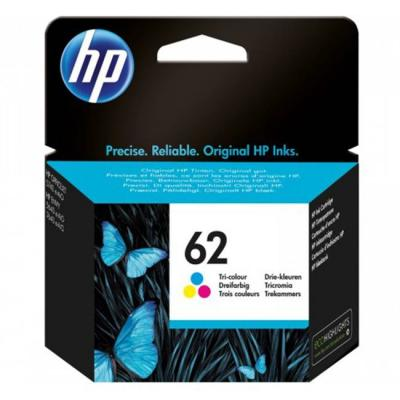 Мастилена касета hp 62 standard original ink cartridge; cmy;  page yield 165; hp еnvy 5640; 7640, c2p06ae