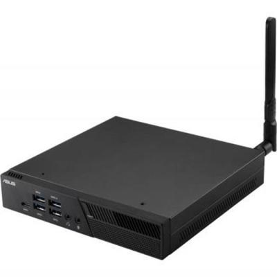 Компютър asus mini pc pb40-bc063mc celeron n4000 (fanless), 24/7 reliability, 4gb ddr4, 64gb emmc + 1 2.5 инча slot,wi-fi ac, com port, черен, asus-pc