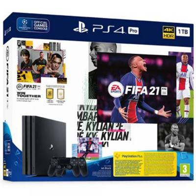 Конзола sony playstation 4 pro 1tb (ps4 pro 1tb) + fifa 21 + dualshock 4 controller